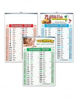 Calendario Olandese Trimestrale Listellato