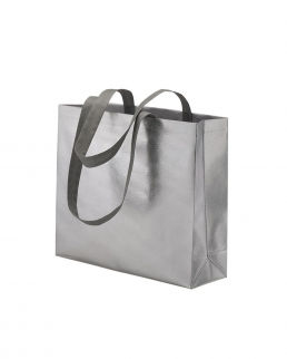 Shopper con soffietto in TNT laminato