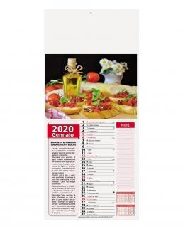 Calendario Mignon Gastronomia12 fogli