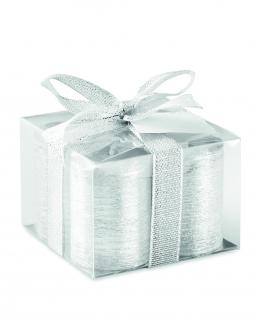 Set 4 candeline silver in vetro