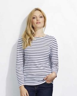 T-shirt donna maniche lunghe Marine