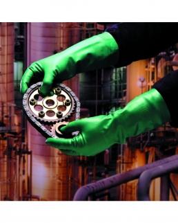 Guanti rischio chimico in nitrile