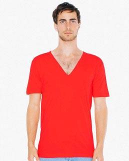 T-shirt con scollo profondo a V