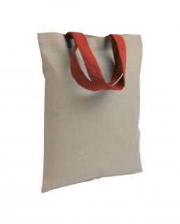 Shopper in cotone medio con manici corti colorati