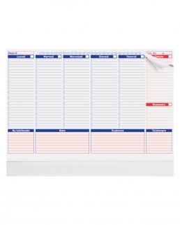 Planning base settimanale da tavolo