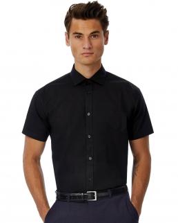 Camicia uomo SSL Poplin Black Tie Elastane