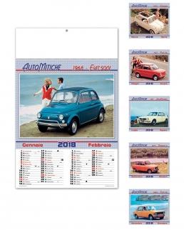 Calendario illustrato sei fogli Auto Mitiche