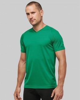 T-shirt uomo sportiva manica corta scollo a V