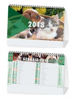 Calendario spiralato da tavolo Cani e Gatti