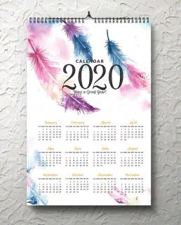 Calendario da parete con spirale 13 Fogli cm 29.7x42