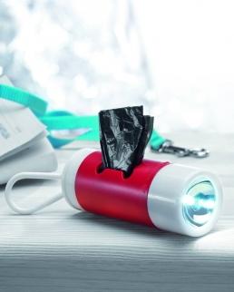 Torcia LED e contenitore di bustine igieniche