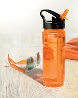 Bottiglia con cannuccia pieghevole