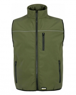 Gilet workshell con bordo riflettente