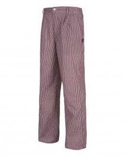 Pantaloni con quadretti con elastico in vita