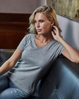 T-shirt donna scollo a V Luxury