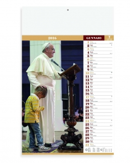 Calendario mensile Papa Francesco