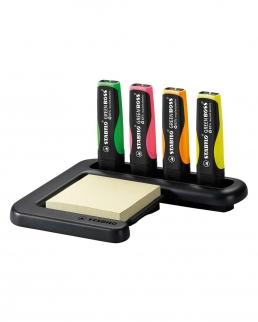 Stabilo Green Boss Desk-set con 4 colori