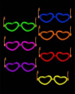 Occhiali fosforescenti Cuore