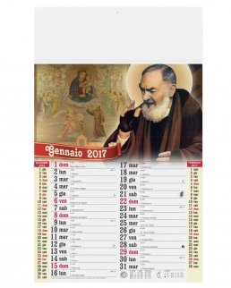 Calendario olandese illustrato San Pio