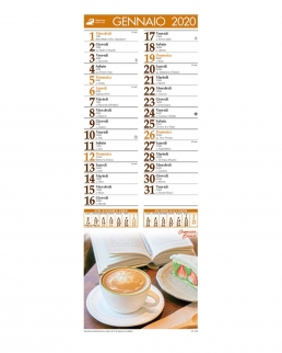 Calendario silhouette Caffè 12 fogli