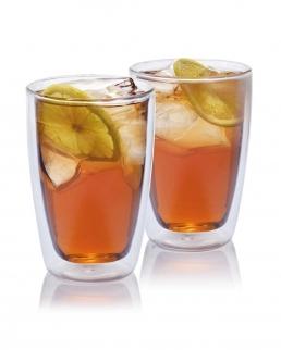 Set 2 bicchieri da tè in vetro