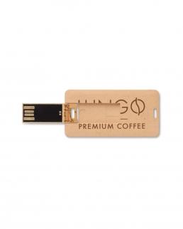 Chiavetta USB piatta 2 Gb in paglia e PP