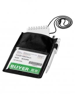Portabadge Identify con tasca e porta penna