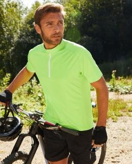 T shirt uomo biking mezza zip