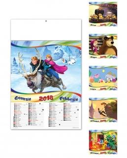 Calendario illustrato sei fogli  Cartoon