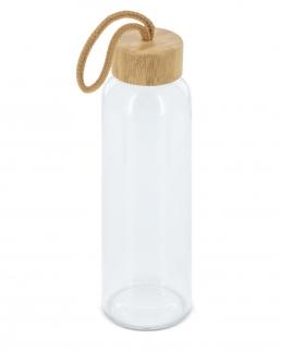 Bottiglia di vetro con tappo di bambù