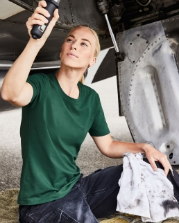 T-shirt donna in cotone organico ring-spun