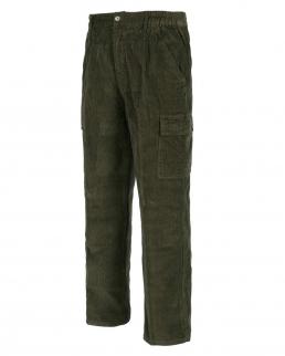 Pantalone di velluto a coste con cintura elastica