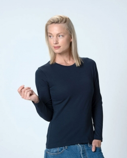 T-shirt donna Basic maniche lunghe