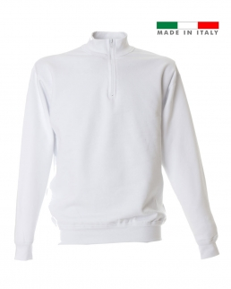 Felpa made in Italy Grosseto zip corta