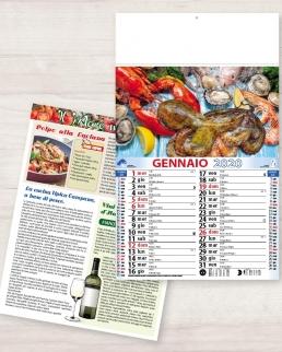 Calendario olandese illustrato Pesce