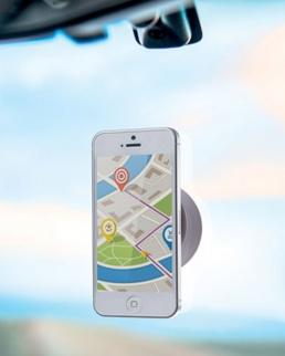 Porta smartphone da automobile con ventose