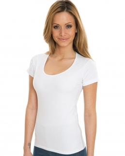 T-shirt Organic Deep Round Stretch