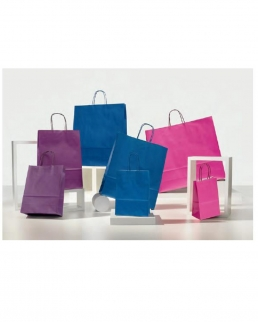 Shopper Colorati pastello 14 Maniglia Ritorta