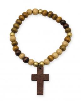 Braccialetto in legno con Croce