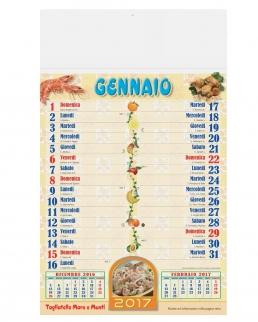 Calendario olandese illustrato Ricettario
