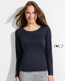 T-shirt donna maniche lunghe MAJESTIC