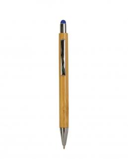 Penna a scatto con fusto in bambù