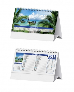 Calendario da tavolo Tropical
