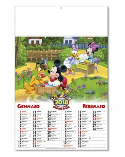 Calendario Mouse&C Bimensile 6 fogli