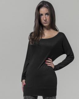 T-shirt donna Scollo ampio maniche lunghe