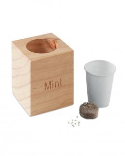 Vaso in legno Menta