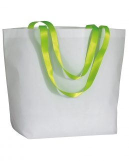 Shopper Bianca con manici fluo