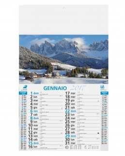 Calendario olandese illustrato Alpi