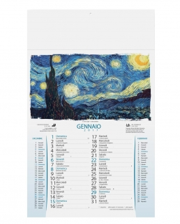 Calendario olandese illustrato Impressionismo