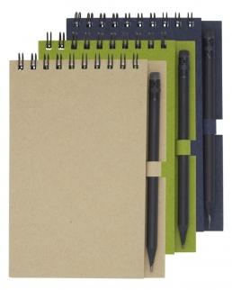 Quaderno piccolo Luciano Eco con rilegatura a spirale e matita